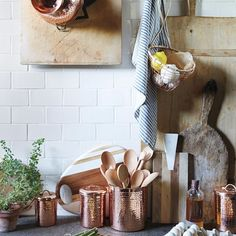 Copper in every corner / we're loving metallic accents all over the house, but especially in the kitchen. (link in profile to shop this shot)