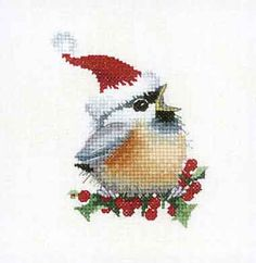 Christmas Chick - Chickadees Cross Stitch Kit by Heritage Crafts