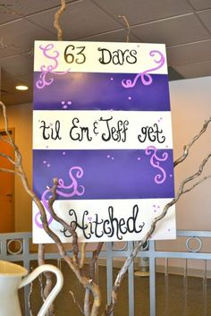 Fun bridal shower artwork!