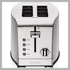 KRUPS, 2-Slice Toaster, Brushed and Chrome Stainless Steel KH732D50 - Price History #Kitchen #Krups #Toaster