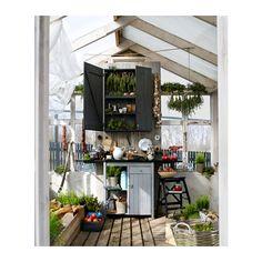 OLOFSTORP Seinäkaappi IKEA Tilaa säästävä säilytysratkaisu lautasille: alin hylly on teline, johon lautaset saa pystyyn.