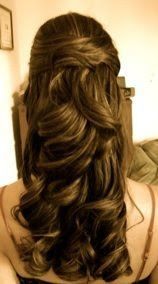 Wedding Day Hair. This what it would look like on a brunette like me.