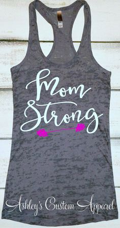 Motivation : Mom Strong Tank Womens Workout Tank Top Gift For Mom Mom Life Shirt Fit Mom Gym Motivation For Moms Fitness Apparel Moms Who Work Out Funny Workout Shirts, Workout Humor, Workout Tank Tops, Funny Shirts, Gym Humor, Fitness Motivation, Fit Girl Motivation, Fitness Tips, Funny Fitness