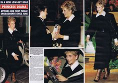 Today's Memories of Diana is from September 26th 1994 and is an article from my Hello magazine collection. Princess Diana was attending her first public engagements since June of that year, and began with a visit to the World Piano Competition at the Royal Festival Hall. Diana presented the first prize of £10,000 to a young 19 year old pianist from Uzbekistan. She looked stylish in a demure black dress with white collar and cuffs.