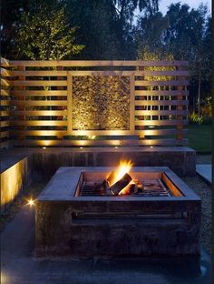 Fire pit - backyard idea - to block some of the sun on the kitchen side