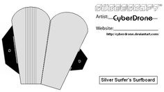Cubee Silver Surfer Surfboard by CyberDrone.deviantart.com on @deviantART