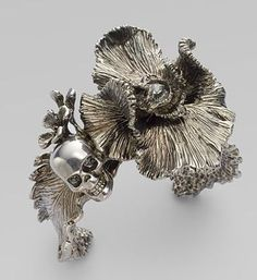 Alexander McQueen Iris Skull Cuff: Every Rose Has Its Thorn