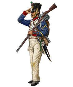 """""""Sergente della 1ª compagnia fucilieri del 29º reggimento di fanteria di linea francese, Waterloo 1815"""", Giorgio Albertini"""
