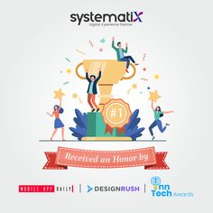 """We want to inform you that Systematix Infotech Pvt. Ltd. received three top companies' honors with extreme pleasure. Recognized as """"One of the 35 Top Software Development Companies of 2020"""" by DesignRush. MobileAppDaily provided us with a custom badge mentioned Fastest Growing App Development Companies 2020. Inn-Tech honored us with a Gold Award in the Best Technology software for Human Resource Management. Custom Badges, Resource Management, App Development Companies, Human Resources, Mobile App, Awards, Success, In This Moment, Technology"""