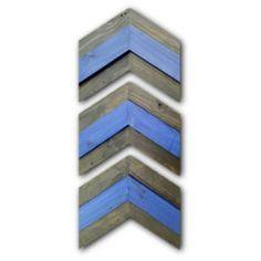 Rustic Thin Blue Line Chevron Arrows Wall Decor