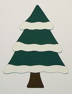 Simple and Free Winter Paper Piecing Patterns : Winter Paper Piecing Patterns - Snowy Christmas Tree