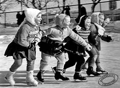 At the beginning of children`s figure skating. 1949