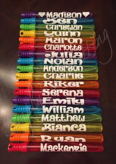 PERSONALIZED BUBBLE WANDS Party Favors by SimplySilhouetting