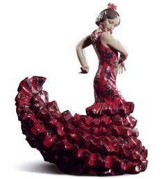 01008765  FLAMENCO FLAIR (RED)     Issue Year: 2014  Sculptor: José Javier Malavia  Size: 47x27 cm
