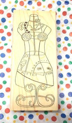 Paula Best rubber stamp Dress Form 0213 A Sun Pay Attention shapes goddess art  #PaulaBest #Dressformmannequins