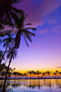 Sunset, Anaehoomalu Bay, Hawaii