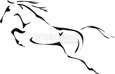 White horse Illustrations and Clipart. White horse royalty free illustrations, and drawings available to search from thousands of stock vector EPS clip art graphic designers. Mustang Tattoo, Horse Outline, Horse Stencil, Horse Sketch, Horse Illustration, Horse Drawings, Equine Art, Horse Art, Free Illustrations