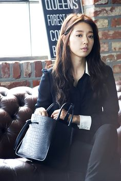 Park Shin Hye Digs Into Her Bruno Magli Purse In Latest Ads | Couch Kimchi