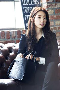 Park Shin Hye Digs Into Her Bruno Magli Purse In Latest Ads | Couch Kimchi