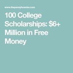 Worried about how to pay for college, or how to graduate without a ton of student loans? Here's a list of 100 college scholarships. Grants For College, College List, College Fund, Financial Aid For College, College Planning, Online College, College Hacks, Scholarships For College, Education College