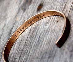 Custom Stamped Cuff Bracelet in Bronze or by theCopperPoppy, $21.00