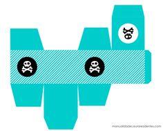 Manualidades: Cajas imprimibles de piratas