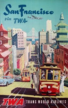 It's a beautiful day in the San Francisco bay! Vintage European Posters at vepca.com