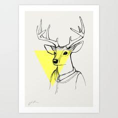 DEER Art Print by jholmgrendesign Deer Art, Moose Art, Cheap Wall Decor, Art Prints, Animals, Design, Art Impressions, Animales, Animaux
