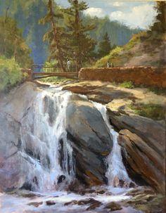"""Helen Hunt Falls"", 22x28, acrylic"