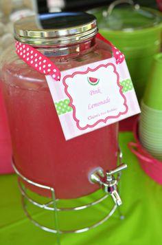 #Watermelon Fruit Summer Girl 1st Birthday Party Planning Ideas
