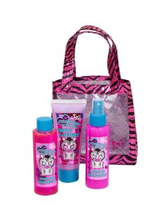 Strawberry toiletries (loofa,body lotion,body mist, and hair detangler