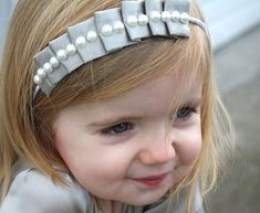 how to make a pleated headband...cute!
