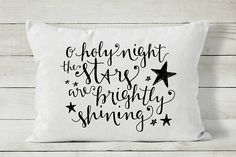 Christmas Pillow O Holy Night Holiday Pillow Cover
