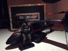"G.I. Joe Pursuit of Cobra ""Black Dragon VTOL"" with ""VTOL Air Trooper"""
