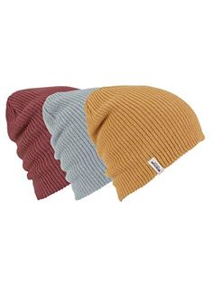 3f9979328a0 Burton DND Beanie Body  Acrylic Imported Constructed from fine knit acrylic  for lightweight comfort Slouch fit can be pulled down over the ears Three  hats ...
