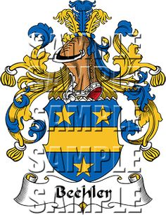 Bechler Family Crest apparel, Bechler Coat of Arms gifts