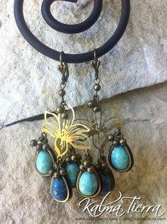 Aros MAGNOLIA - Aqua / Consultar precio a: info@kalmatierra.com