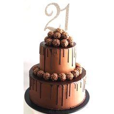 21st Birthday Ferrero Rocher Cake @missmollyscakes