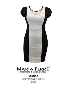 VESTIDO TALLA EXTRA, BLANCO Y NEGRO, EXTRA SIZE DRESS, BLACK AND WHITE, MARÍA FERRÉ.