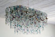Riaan Chambers | sea glass chandelier