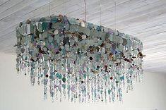 Riaan Chambers   sea glass chandelier