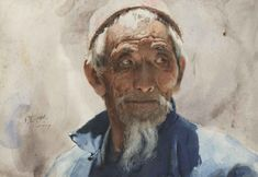 Fine Giclees - Archival Quality Prints of Guan Weixing Watercolor Paintings by Ambleside Gallery — Guan Weixing Art Watercolor, Watercolor Portraits, Watercolor Landscape, Watercolor Flowers, Figure Painting, Painting & Drawing, Art Visage, L'art Du Portrait, Norman Rockwell