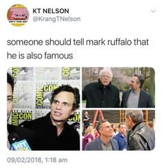 New goal: to meet Mark Ruffalo and react to him the same way he reacts to other celebrities