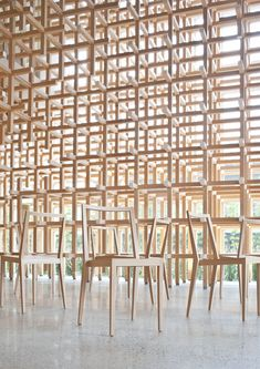 NC chair / GC chair | kengo kuma and associates