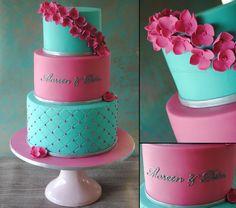 Pink & Turquoise Cake