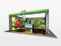 Exhibition stand project 2013 by Voiculescu Bogdan, via Behance
