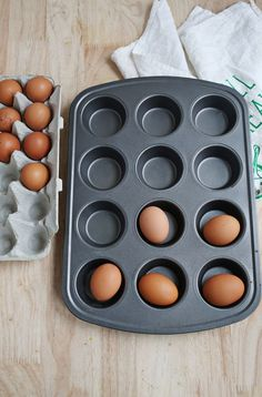 "How to hard ""boil"" eggs in the oven"