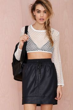 Nightwalker Apocalypto Net Crop Top