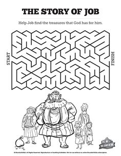 The Story of Job Bible Mazes: Visually stunning and fun to solve your kids are going to love these story of Job Bible mazes. These printable Bible activity pages are a great element to include in your book of Job kids Sunday school lesson.