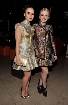 Lily Collins   Dakota Fanning  2012 CFDA Fashion Awards